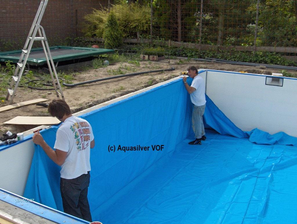 Rond folie 320 x 120 for Inbouw zwembad rechthoek
