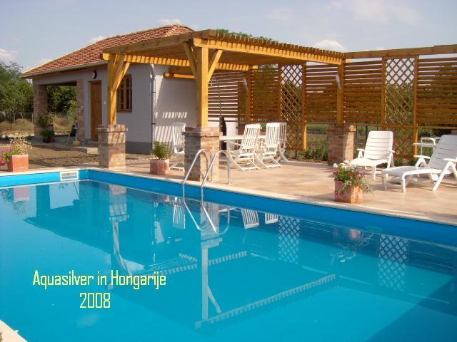 Delux rechthoek zwembad met romeinse inlooptrap 800 x400 x 150 diep - Zwembad kleur liner ...